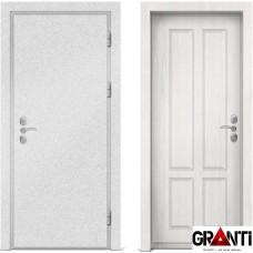 Входная металлическая дверь с отделкой МДФ белеого цвета серии  Б 15