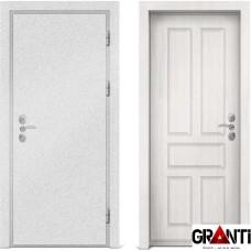 Входная металлическая дверь с отделкой МДФ белеого цвета серии  Б 16