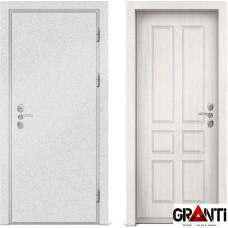 Входная металлическая дверь с отделкой МДФ белеого цвета серии  Б 17