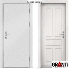 Входная металлическая дверь с отделкой МДФ белого цвета серии  Б 19