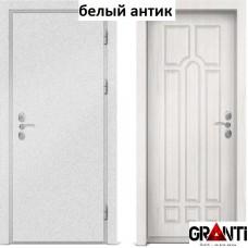 Входная металлическая дверь с отделкой МДФ белого цвета серии  Б 2