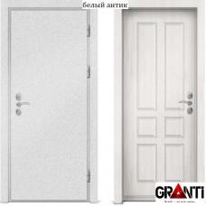 Входная металлическая дверь с отделкой МДФ белого цвета серии  Б 20