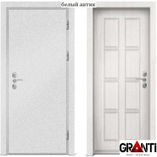 Входная металлическая дверь с отделкой МДФ белого цвета серии  Б 21