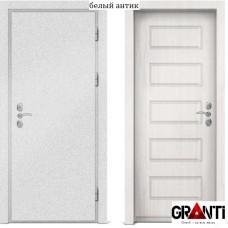 Входная металлическая дверь с отделкой МДФ белого цвета серии  Б 22