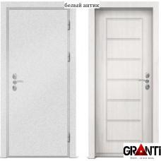 Входная металлическая дверь с отделкой МДФ белого цвета серии  Б 23