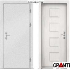 Входная металлическая дверь с отделкой МДФ белого цвета серии  Б 24
