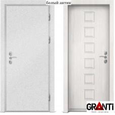 Входная металлическая дверь с отделкой МДФ белого цвета серии  Б 25