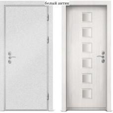 Входная металлическая дверь с отделкой МДФ белого цвета серии  Б 26