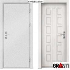 Входная металлическая дверь с отделкой МДФ белого цвета серии  Б 29