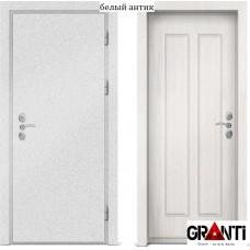 Входная металлическая дверь с отделкой МДФ белого цвета серии  Б 31