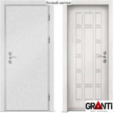 Входная металлическая дверь с отделкой МДФ белого цвета серии  Б 32
