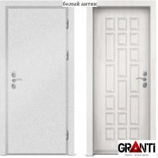 Входная металлическая дверь с отделкой МДФ белого цвета серии  Б 33