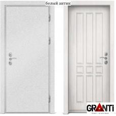 Входная металлическая дверь с отделкой МДФ белого цвета серии  Б 34