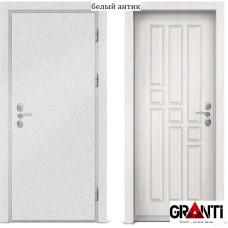 Входная металлическая дверь с отделкой МДФ белого цвета серии  Б 35