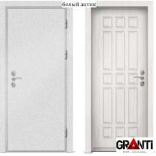 Входная металлическая дверь с отделкой МДФ белого цвета серии  Б 36
