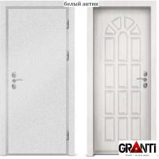 Входная металлическая дверь с отделкой МДФ белого цвета серии  Б 37