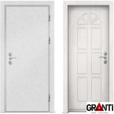 Входная металлическая дверь с отделкой МДФ белого цвета серии  Б 38