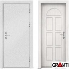 Входная металлическая дверь с отделкой МДФ белого цвета серии  Б 39