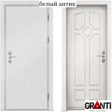 Входная металлическая дверь с отделкой МДФ белого цвета серии  Б 4