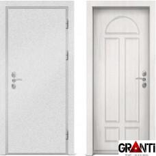 Входная металлическая дверь с отделкой МДФ белого цвета серии  Б 40