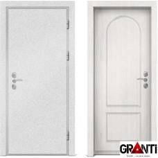 Входная металлическая дверь с отделкой МДФ белого цвета серии  Б 41