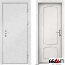 Входная металлическая дверь с отделкой МДФ белого цвета серии  Б 42