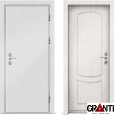 Входная металлическая дверь с отделкой МДФ белого цвета серии  Б 43
