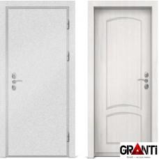 Входная металлическая дверь с отделкой МДФ белого цвета серии  Б 44