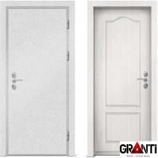 Входная металлическая дверь с отделкой МДФ белого цвета серии  Б 45