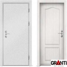 Входная металлическая дверь с отделкой МДФ белого цвета серии  Б 46