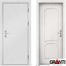Входная металлическая дверь с отделкой МДФ белого цвета серии  Б 47
