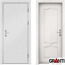 Входная металлическая дверь с отделкой МДФ белого цвета серии  Б 48