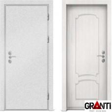Входная металлическая дверь с отделкой МДФ белого цвета серии  Б 49