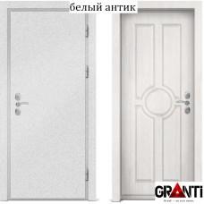 Входная металлическая дверь с отделкой МДФ белого цвета серии  Б 5