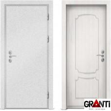 Входная металлическая дверь с отделкой МДФ белого цвета серии  Б 50