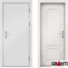 Входная металлическая дверь с отделкой МДФ белого цвета серии  Б 51