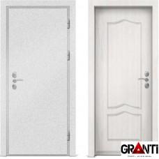 Входная металлическая дверь с отделкой МДФ белого цвета серии  Б 52