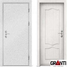 Входная металлическая дверь с отделкой МДФ белого цвета серии  Б 53