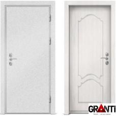 Входная металлическая дверь с отделкой МДФ белого цвета серии  Б 54