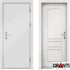 Входная металлическая дверь с отделкой МДФ белого цвета серии  Б 55