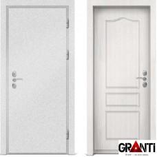 Входная металлическая дверь с отделкой МДФ белого цвета серии  Б 56