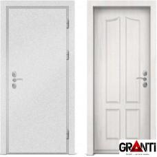 Входная металлическая дверь с отделкой МДФ белого цвета серии  Б 57