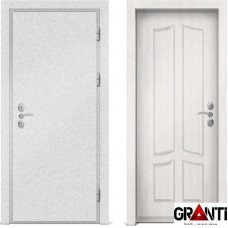 Входная металлическая дверь с отделкой МДФ белого цвета серии  Б 58