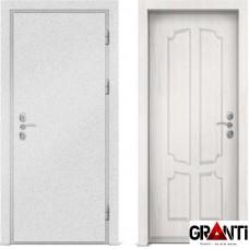 Входная металлическая дверь с отделкой МДФ белого цвета серии  Б 61