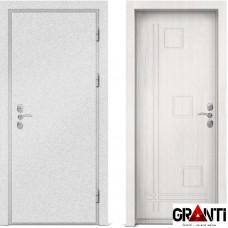 Входная металлическая дверь с отделкой МДФ белого цвета серии  Б 62