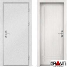 Входная металлическая дверь с отделкой МДФ белого цвета серии  Б 63