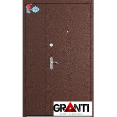 Дверь с порошковым напылением двустворчатая с терморазрывом №1
