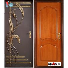 Дверь с порошковым напылением ковкой и терморазрывом №14
