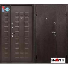 Дверь с порошковым напылением двустворчатая и терморазрывом №16