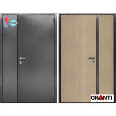 Дверь с порошковым напылением двустворчатая и терморазрывом №18